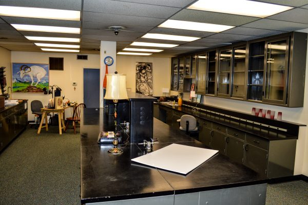 One area inside the First State Capitol Building was used a laboratory at one time.