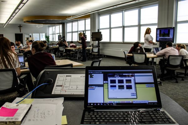 The TEAL Lab is now used as a part of all classes offered at Wheeling Central. (Photo by senior Kelsey Baller)