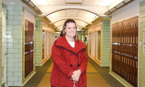 Becky Sancomb, principal of Wheeling Central High.