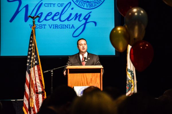 """Mayor Andy McKenzie discussed the changes that took place in the Friendly City during the course of the past year, and he also told those in attendance to, """"walk downtown Wheeling closely"""" in 2015."""