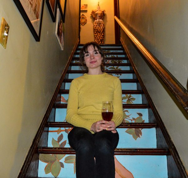 Patricia decided to use her artistic talents to paint the staircase in their East Wheeling home.