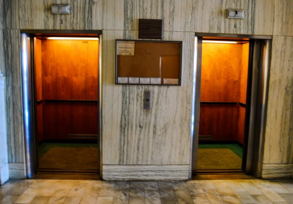 At one time female elevator operators led employees and visitors to their high-rise destinations.