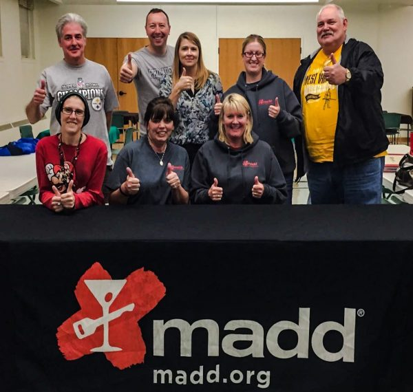 Jody Miller (seated on the far right) has worked hard to establish the MADD Chapter in the Wheeling area.