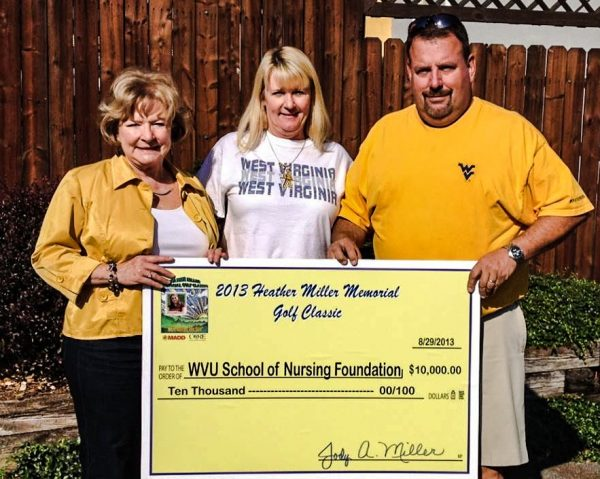 Each year since Heather's tragic death, Jody and Gary Miller have staged an alcohol-free golf scramble that benefits West Virginia University's Nursing Foundation to provide scholarships for local students.