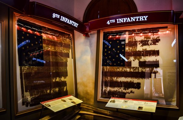 The Civil War Flag display was added to Independence Hall's second floor six years ago.
