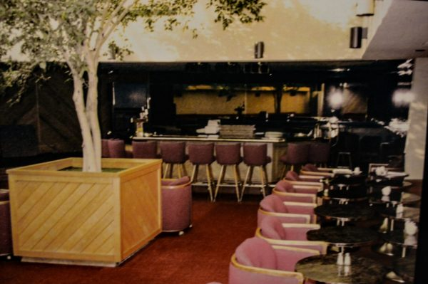 A photo of the Under Glass Lounge inside the Howard Johnson's restaurant along National Road.