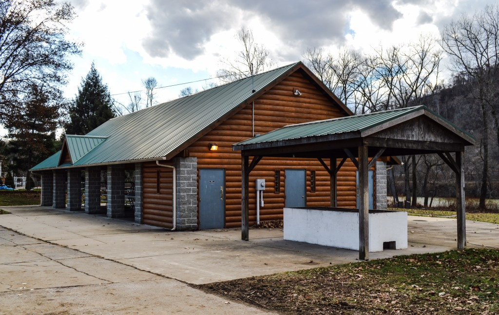 The Wheeling Island Community Association owns and operates the shelters at the marina.