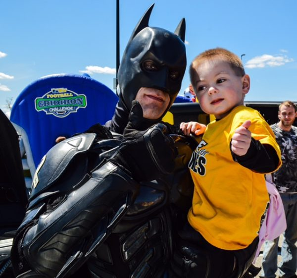 Hines and Batman hung out for a while during the second annual event.