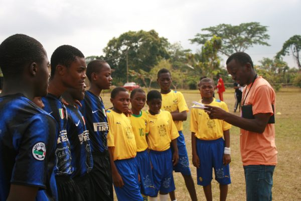 Children and adults of all ages participate in the soccer program, and social development has been made a part of the process.
