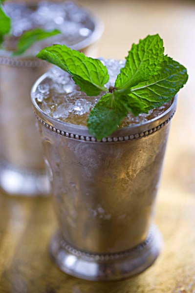 Mint Julep made with Evan Williams bourbon PHOTO CREDIT: Andrew Scrivani for The Wall Street Journal