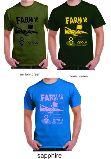 """Grow Ohio Valley will have a selection of T-shirts for sale during the """"7 Bands for $7"""" event."""