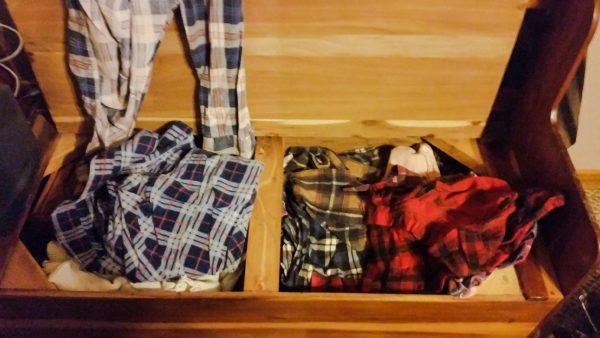 Lee Moncer's clothes have been kept by his daughter.