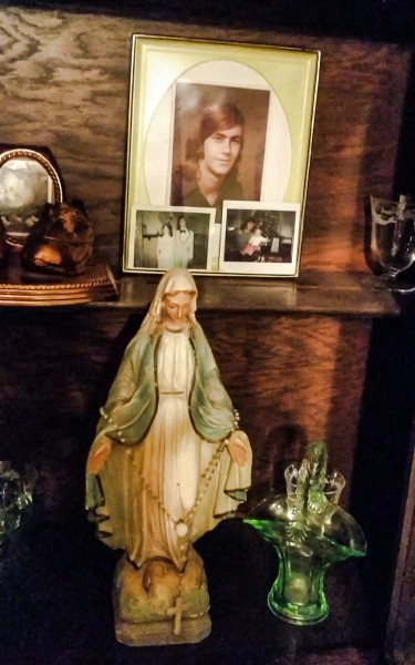 Wurtzbacher has a shrine for her father in her Ohio County home.
