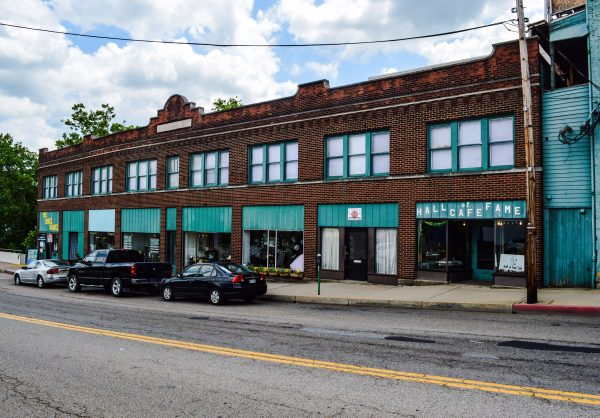 The Hasenauer Building is located across Big Wheeling Creek between the downtown district and Centre Market.