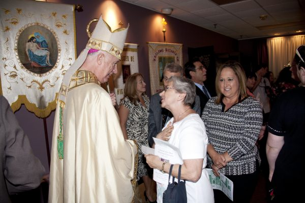 Meeting with parish members in the Mountain State has always been a priority for Bishop Bransfield.