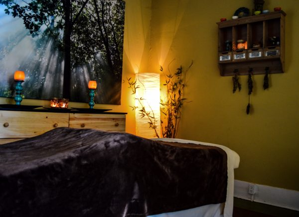 This comfortable setting is where Eller offers massage therapy.