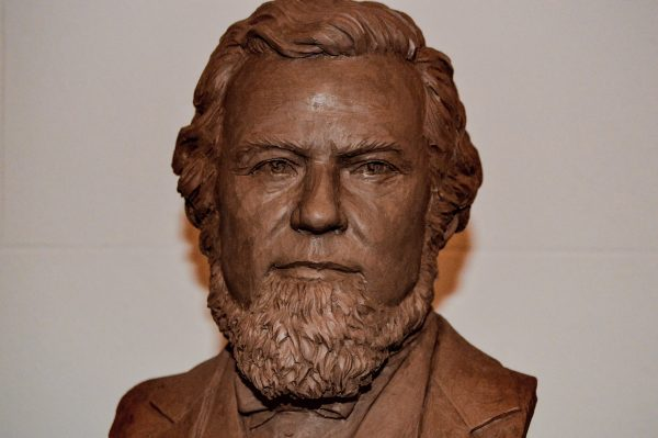 A bust of Francis Pierpont can be found on the second floor of the West Virginia Independence Hall in downtown Wheeling.