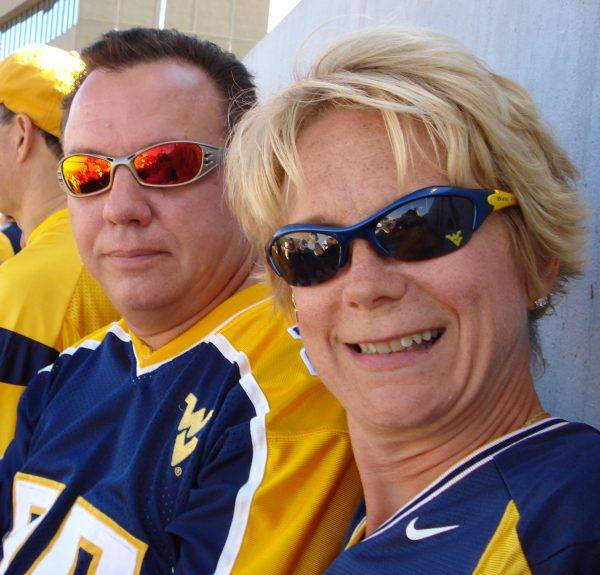 Diana and her husband Mark are avid WVU fans.