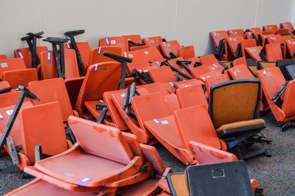 The original seats have been offered to those who want a keepsake.