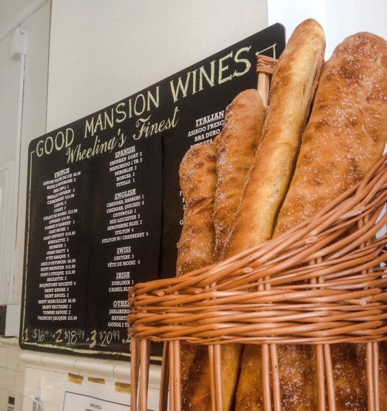 Good Mansion Wines now offers baguettes Thursdays through Saturdays.