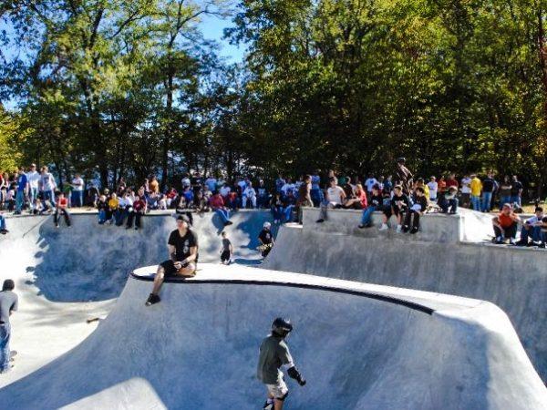 The Wheeling Skatepark opened in October 2007.