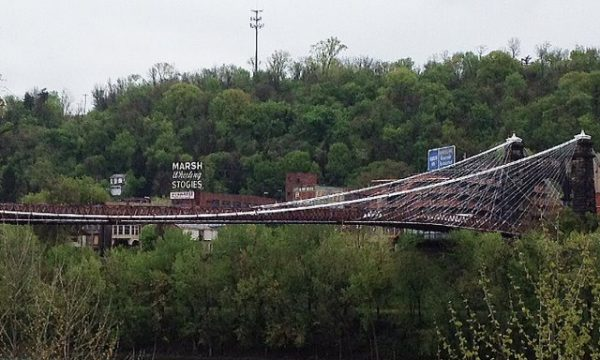 The Wheeling Suspension Bridge has been registered as a National Historic Landmark since 1975.