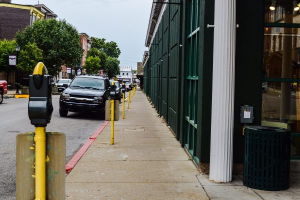 Streetscape beautification - including resigning the many parking meters that surround the two market houses - is part of Zende's next improvement plan for the area.