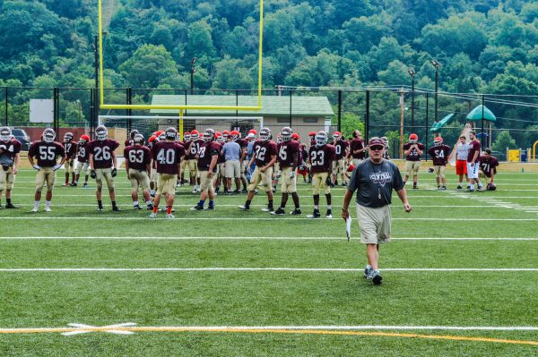 Young's Maroon Knights utilize the J.B. Chambers Recreation Park in East Wheeling, but the head coach alters his team's practice times if another organization needs to use the facility.