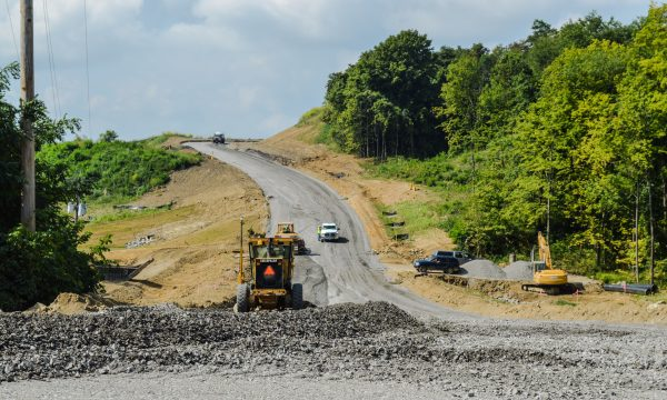 The Mall Road extension project is well under way, and Coffland expects it to be complete in late 2016.