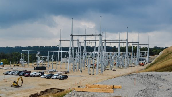 American Electric Power is currently constructing this new relay station near Neffs.
