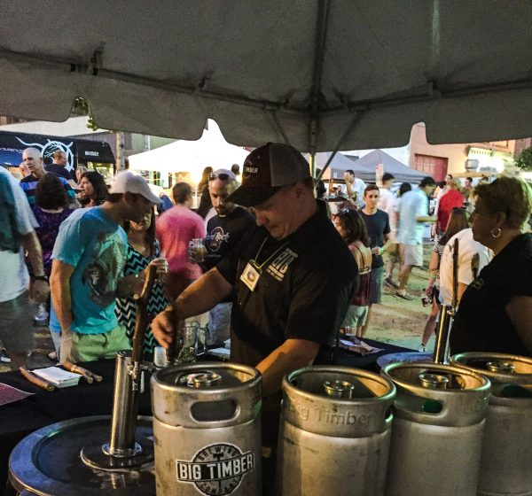 Big Timber offered five different craft brews in Wheeling and Kwasniewski and Roberts poured 90 gallons to the patrons.