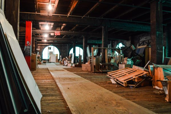 The fifth floor of the Boury Warehouse at 2 16th Street remained cluttered when Jeff Woda of the Woda Group announced the renovation project in downtown Wheeling.