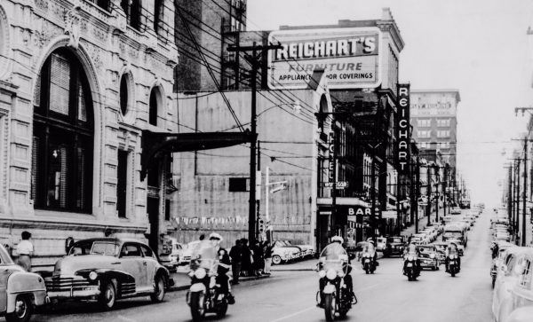 Main Street in downtown Wheeling has changed a lot since the Lias and Hankish eras.
