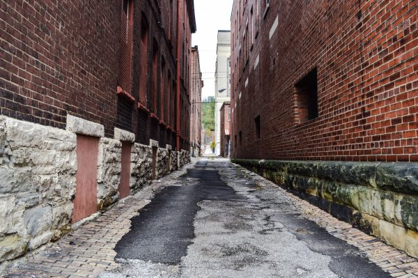 Lemroy Coleman of Cleveland, Ohio was found dead in this alley in East Wheeling.