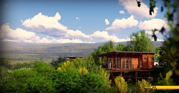 """Four new """"treehouse"""" cabins will be constructed and completed by the end of the summer."""