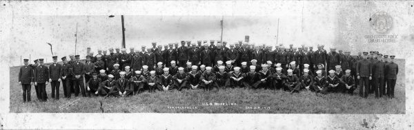 The crew of the USS Wheeling in 1919 in New Orleans.