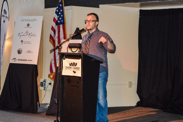 Jeremy Richter, founder of Wheeling's Independent Theatre Collective, pitched ideas for new projects.