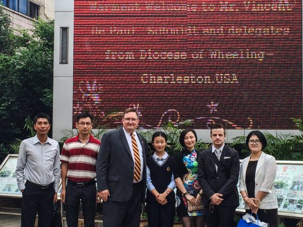 Schmidt met with education and government officials while in China, and also with several prospective students.