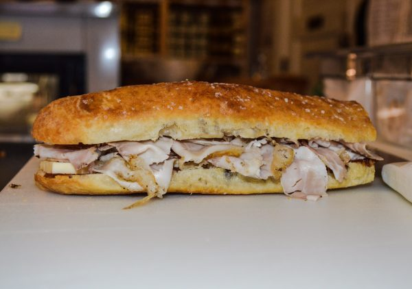 The Il Marchigiano, one of 23 sandwiches produced at Good Mansion Wines Monday through Friday from 11 a.m. until 2 p.m.