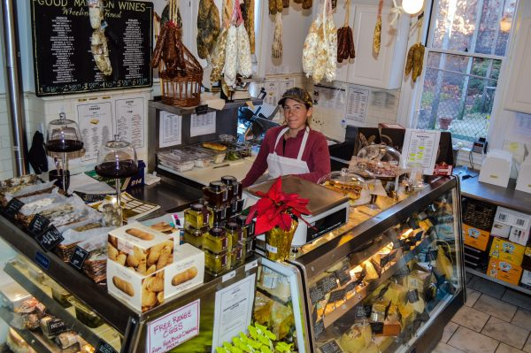 Holly Wiegmann usually can be found behind the food and cheese counter at Good Mansion Wines.