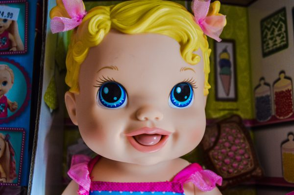 Baby dolls, says the owner of Deluxe Toy and Hobby, have evolved with all other toys during the past few decades.