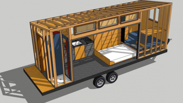 The tiny homes can also be made to be mobile.