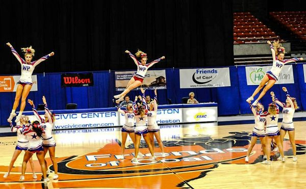 During the state's cheering championships each squad only receives three minutes for its routine.