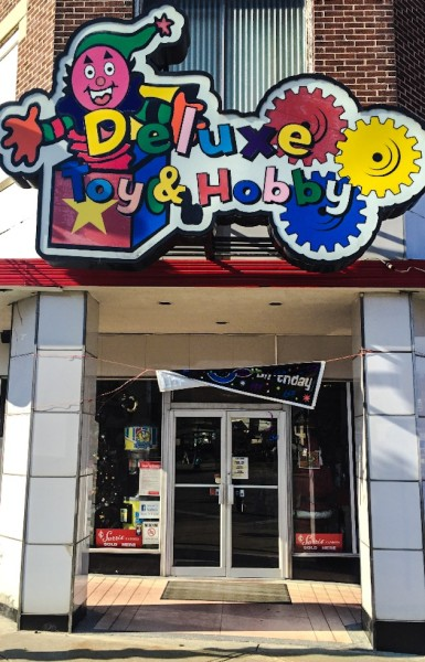 Deluxe Toy & Hobby is located at 501 Hanover Street in downtown Martins Ferry.