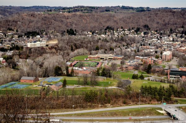 The Bachmann property overlooks the campus of Wheeling Jesuit University and several Friendly City neighborhoods.