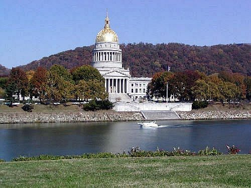 The West Virginia Capitol in Charleston.