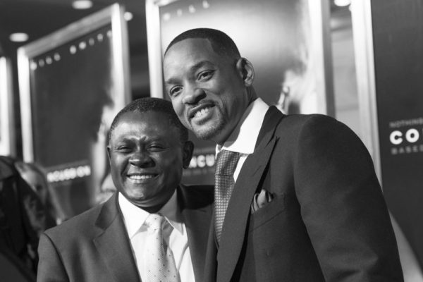 Actor Will Smith (right) and Dr.Bennet Omalu