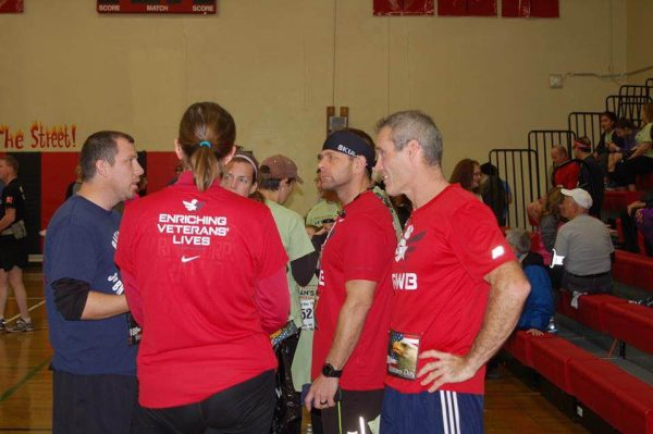 Local veterans gather often for physical workouts.