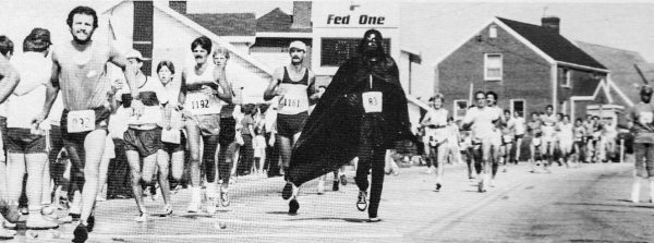 The Elby's Distance Race attracted international - and apparently intergalactic - road racers and was an Olympic Trail event beginning in the late-1970s.