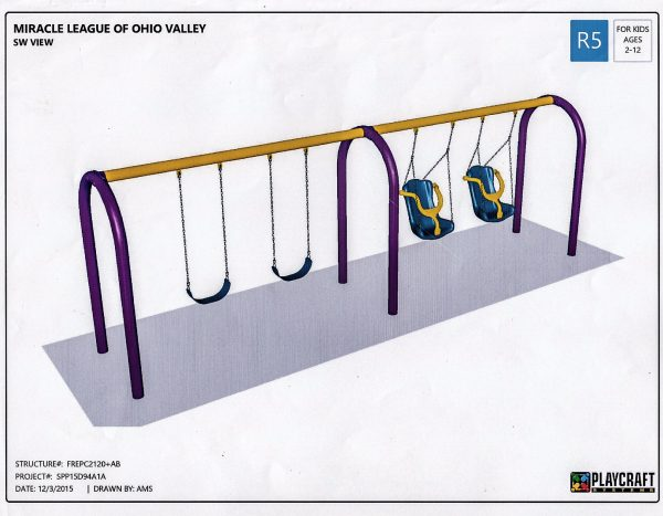 This swing set is an example what the facility could feature.